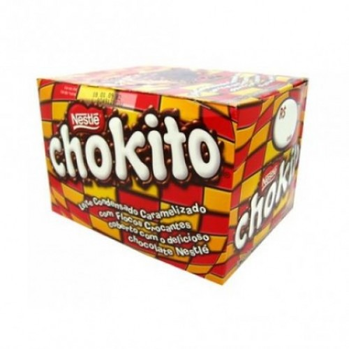 Chokito Crisped Rice and Caramel Covered with Milk Chocolate - 30 Units